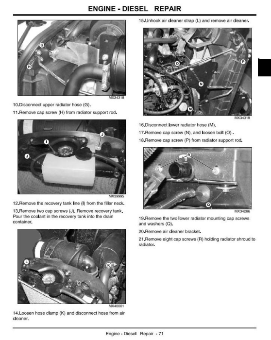 Second Additional product image for - John Deere 4105 Compact Utility Tractors All Incliusive Technical Service Manual (tm102419)