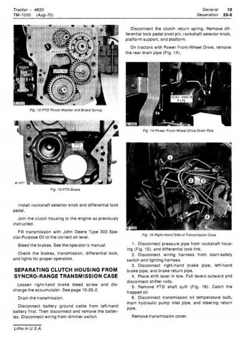 Second Additional product image for - John Deere 4620 Tractors Diagnostic and Repair Technical Service Manual (tm1030)