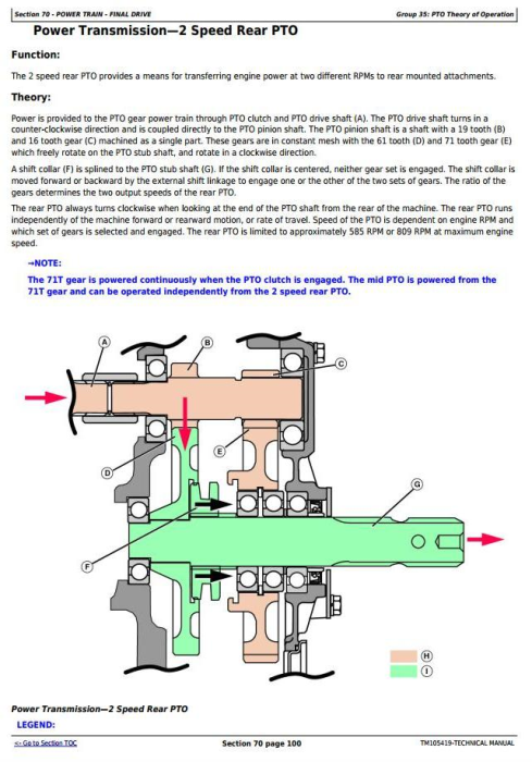 Fourth Additional product image for - John Deere 4520, 4720 Compact Utility Tractors With Cab (SN. 650001-) Technical Service Manual (TM105419)