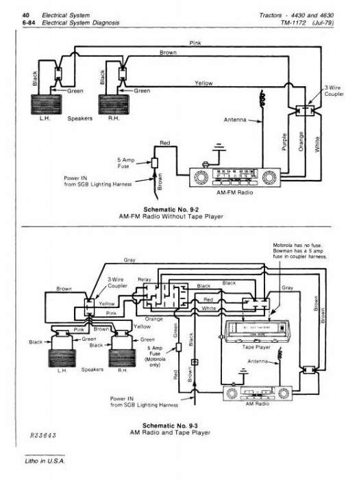 Third Additional product image for - John Deere 4430 (SN.033109-), 4630 (SN.011717-) Row Crop Tractors Technical Service Manual (tm1172)
