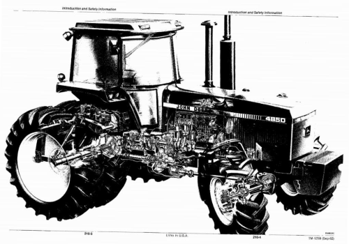 Second Additional product image for - John Deere 4050, 4250, 4450, 4650, 4850 Tractors All Inclusive Technical Service Manual (tm1259)