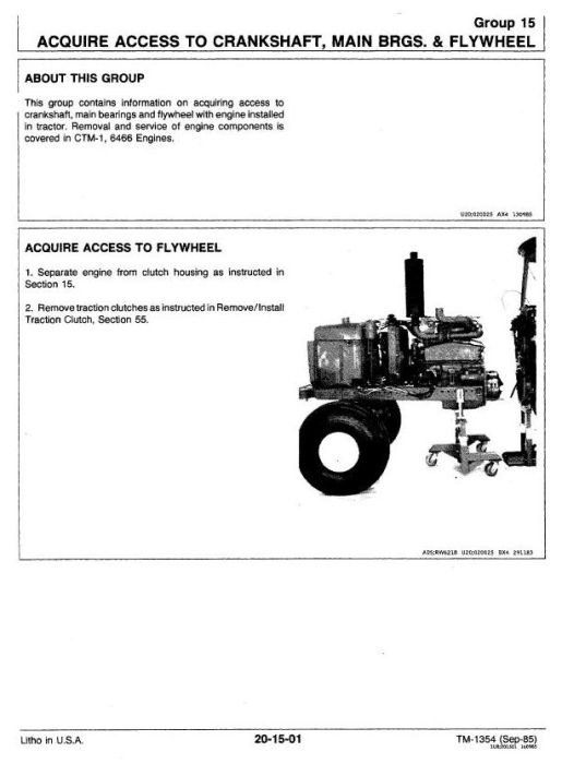 Second Additional product image for - John Deere 4650, 4850 Tractors All Inclusive Technical Service Manual (tm1354)