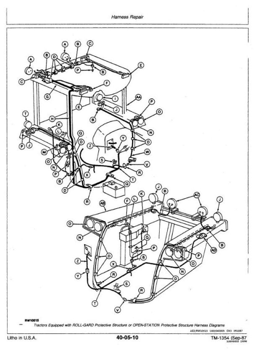 Third Additional product image for - John Deere 4650, 4850 Tractors All Inclusive Technical Service Manual (tm1354)