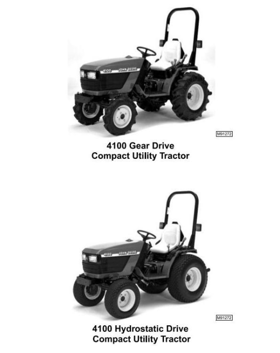 Second Additional product image for - John Deere 4100 Compact Utility Tractors Technical Service Manual (tm1630)