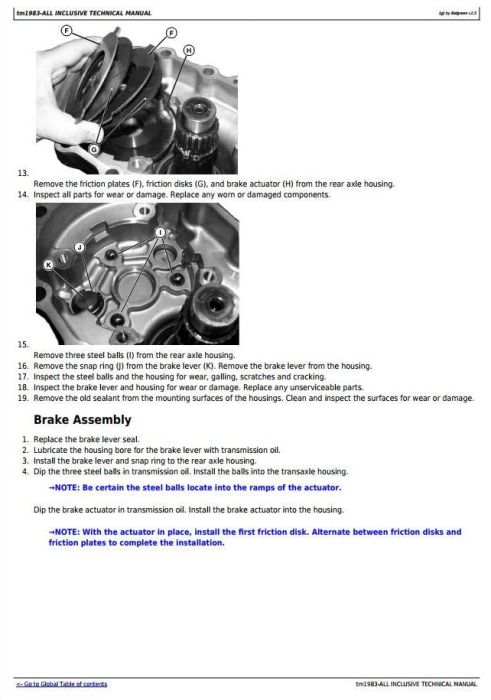 Fourth Additional product image for - John Deere 4010 Compact Utility Tractor All Inclusive Technical Service Manual (tm1983)