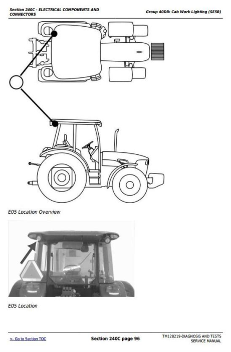 Third Additional product image for - John Deere Tractors 5085E, 5095E and 5100E Diagnostic and Tests Service Manual (TM128219)