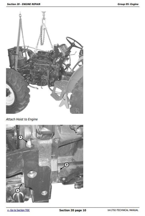 Fourth Additional product image for - John Deere 5105 and 5205 USA Tractors Diagnostic and Repair Technical Manual (TM1792)