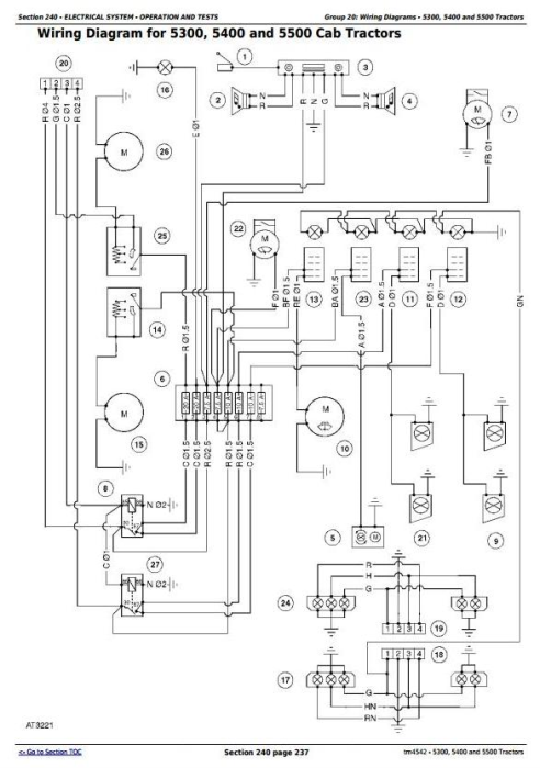 Second Additional product image for - John Deere 5300, 5400 and 5500 Tractors Diagnosis and Repair Service Manual (tm4542)