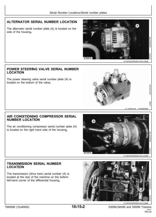 Second Additional product image for - John Deere 5300N, 5400N, 5500N Tractors Diagnosis and Repair Technical Service Manual (tm4598)