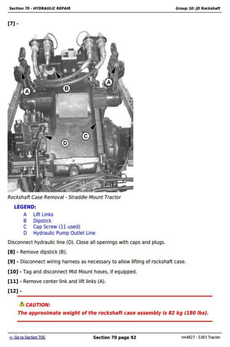 Third Additional product image for - John Deere Tractor 5303 All Inclusive Technical Diagnostic and Repair Service Manual (tm4827)