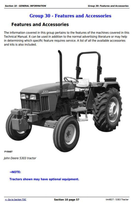 Fourth Additional product image for - John Deere Tractor 5303 All Inclusive Technical Diagnostic and Repair Service Manual (tm4827)