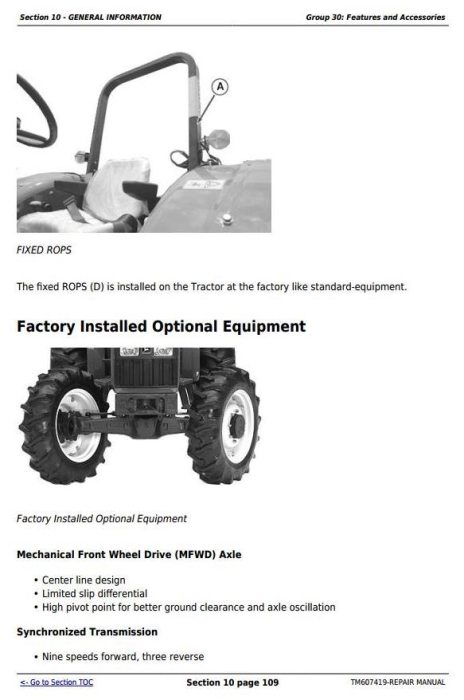 Third Additional product image for - John Deere Tractors 5076E, 5076EL, 5082E, 5090E, 5090EL, 5090EH Service Repair Technical Manual TM607419