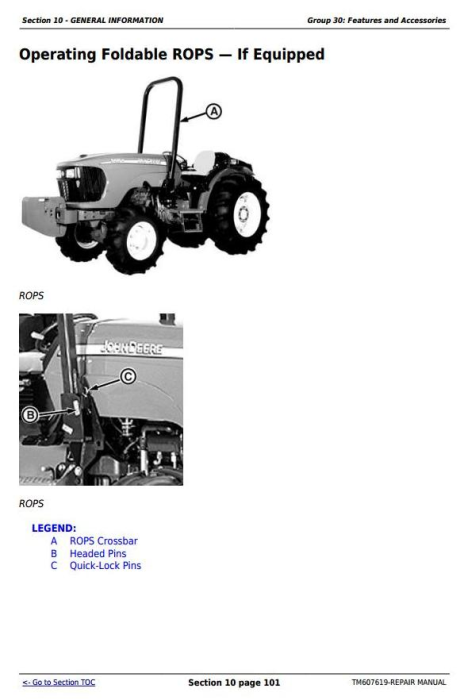 Third Additional product image for - John Deere 5076EF Tractors Service Repair Technical Manual (TM607619)