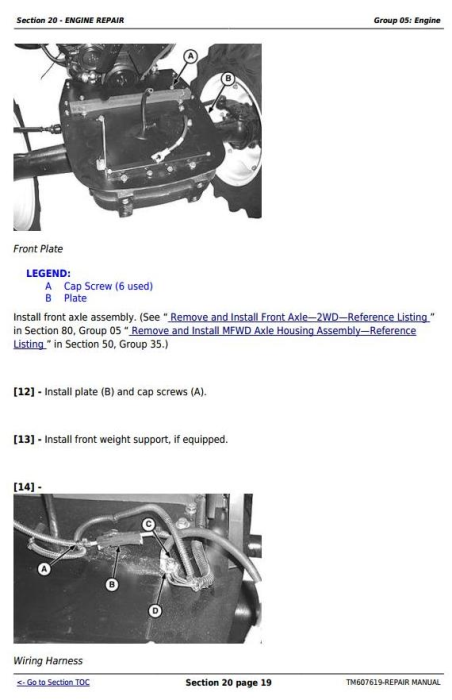 Fourth Additional product image for - John Deere 5076EF Tractors Service Repair Technical Manual (TM607619)