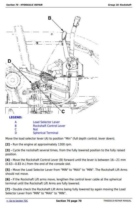 Third Additional product image for - John Deere Tractors 6100D, 6110D, 6115D, 6125D, 6130D & 6140D Service Repair Technical Manual (TM605019)