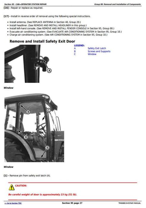 Third Additional product image for - John Deere 6100D, 6110D, 6115D, 6125D & 6130D Tractors Service Repair Manual (TM608819)