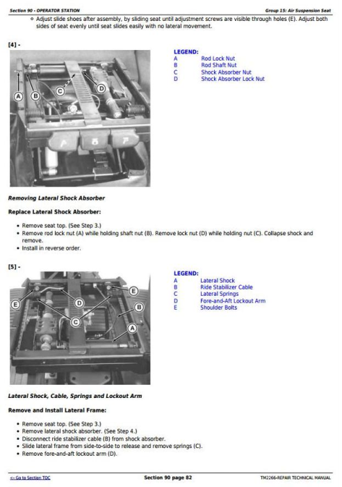 Third Additional product image for - John Deere 7630 7730 7830 7930 & 2204 2WD or MFWD Tractors Service Repair Manual (TM2266)