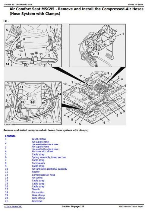 John Deere 7330 Premium 2WD or MFWD USA Tractors Repair