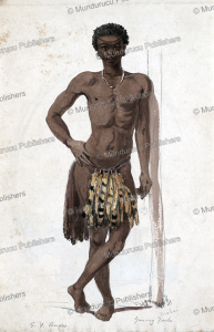 a young zulu man, angas, george french, 1847