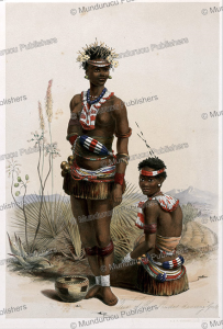 two of king panda's dancing girls, zulu, george french angas, 1849