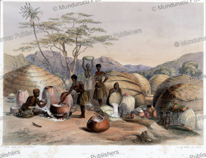 zulu women making beer, george french angas, 1847