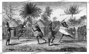 Landeens or Zulus exercising at Sena in Mozambique, David Livingstone, 1865 | Photos and Images | Travel