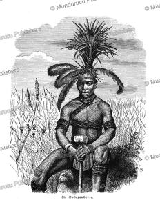 zulu medicine man, friedrich ratzel, 1894