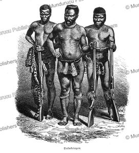 Zulu warriors, Friedrich Ratzel, 1894 | Photos and Images | Travel