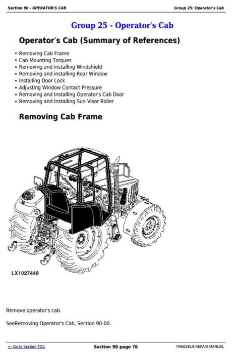 Third Additional product image for - John Deere 7425, 7525, 6140J, 6155J, 6155JH Tractors Service Repair Manual (TM605819)
