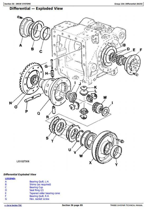 Third Additional product image for - John Deere 6425(HC), 7425(HC), 7525(HC),6155J(H) Tractors Repair Manual (Mexican Version) (TM608219)