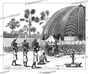 A Tokpon (a state pavilion) in Dahomey, J.A. Skertchly, 1874 | Photos and Images | Travel