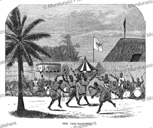 the tail-dancers in dahomey, j.a. skertchly, 1874