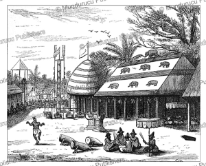 The So-sin pavilions in Dahomey, J.A. Skertchly, 1874 | Photos and Images | Travel