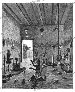 the fetish house of prince hahansu of dahomey, j.a. skertchly, 1874