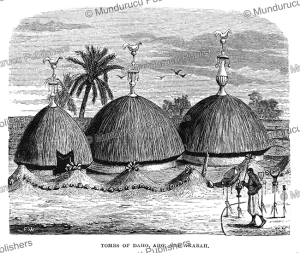 tombs of former kings of dahomey, j.a. skertchly, 1874