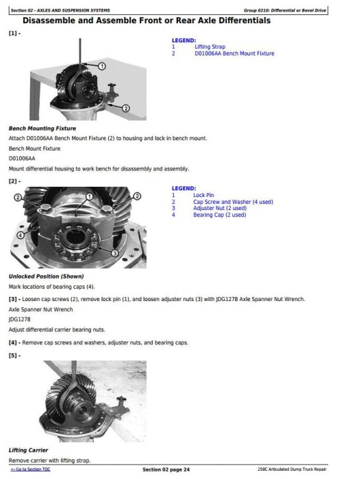 John Deere 250c Articulated Dump Truck Service Repair
