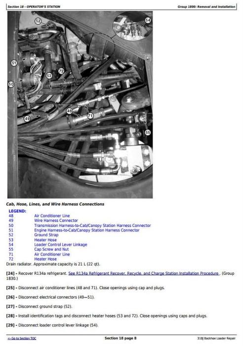 John Deere 310j Backhoe Loader  S N  From 159760  Service