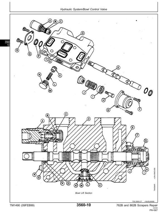 Second Additional product image for - John Deere 762B (SN.-791763), 862B (SN.-793082) Scraper Service Repair Technical Manual (tm1490)