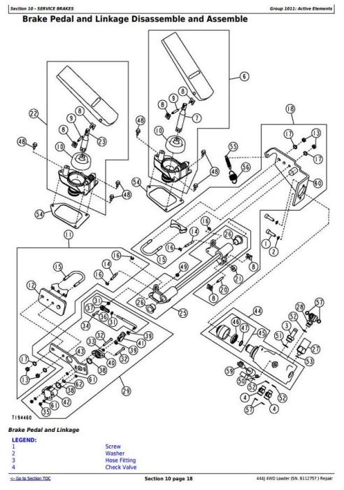 John Deere 444J (SN.from 611275) 4WD Loader Service Repair