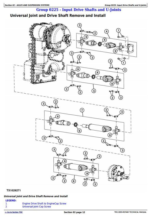 John Deere 544K 4WD Loader (SN.from E642665) w.Engine