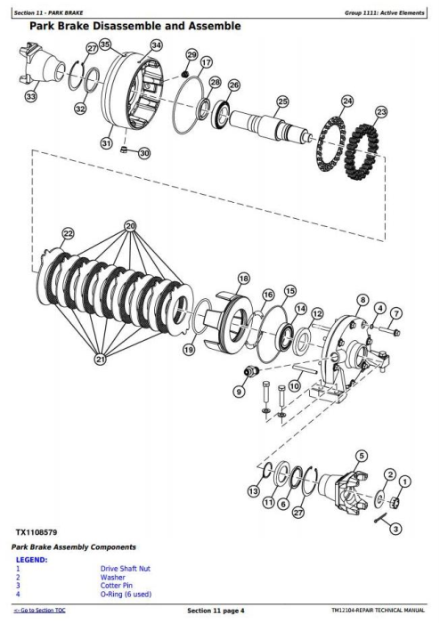 John Deere 624K 4WD Loader (SN.642635-658064) w.Engine