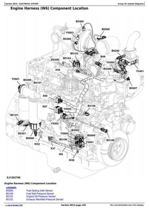John Deere 644K 4WD Loader (SN.E634315-658064) w.Engine