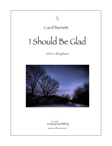 I Should Be Glad | Music | Classical