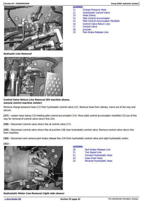Fourth Additional product image for - John Deere 318D, 319D, 320D, 323D Skid Steer Loader w.Manual Controls Service Repair Manual TM11399