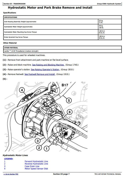 Second Additional product image for - John Deere 318D, 319D, 320D, 323D Skid Steer Loader (EH Controls) Service Repair Manual (TM11407)
