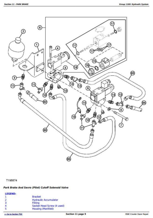 Third Additional product image for - John Deere 950C Crawler Dozer Service Repair Technical Manual (tm2247)