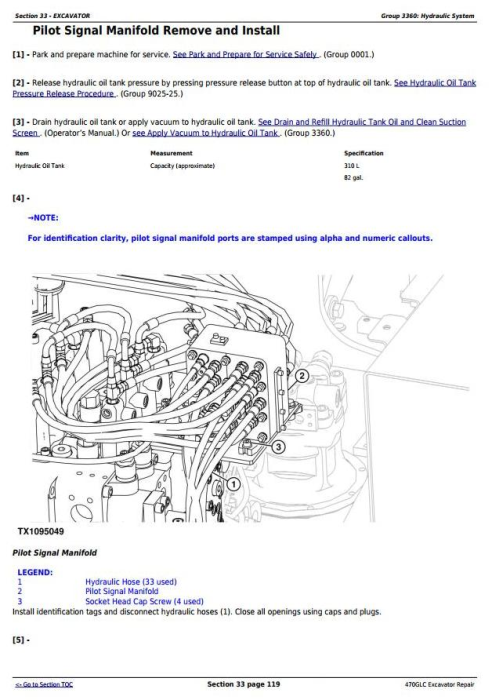 Third Additional product image for - John Deere 470GLC Excavator with 6UZ1XZSA-01 Engine Service Repair Technical Manual (TM12180)