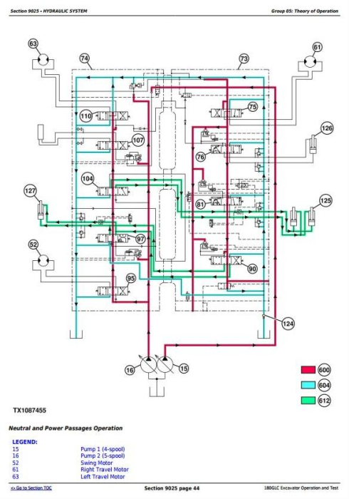 Fourth Additional product image for - John Deere 180GLC (PIN:1FF180GX__E020001-) iT4/S3B Excavator Operation, Test Service Manual (TM12336)