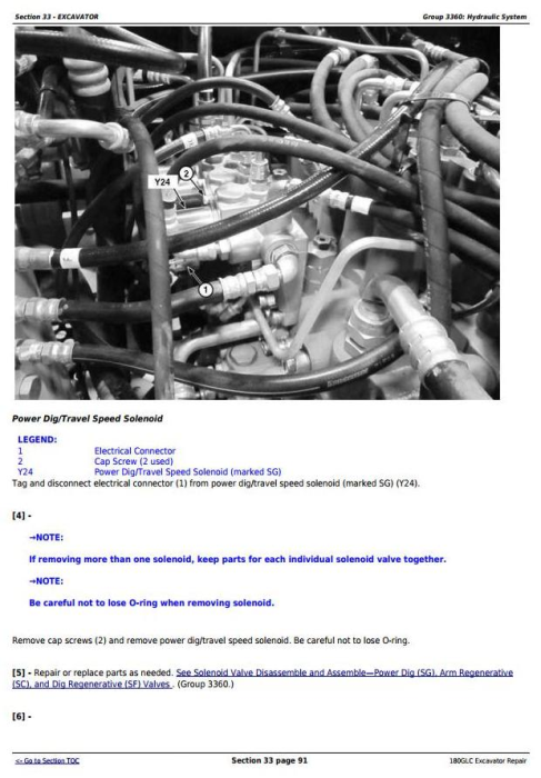 Third Additional product image for - John Deere 180GLC (PIN: 1FF180GX__E020001-) iT4/S3B Excavator Service Repair Manual (TM12339)
