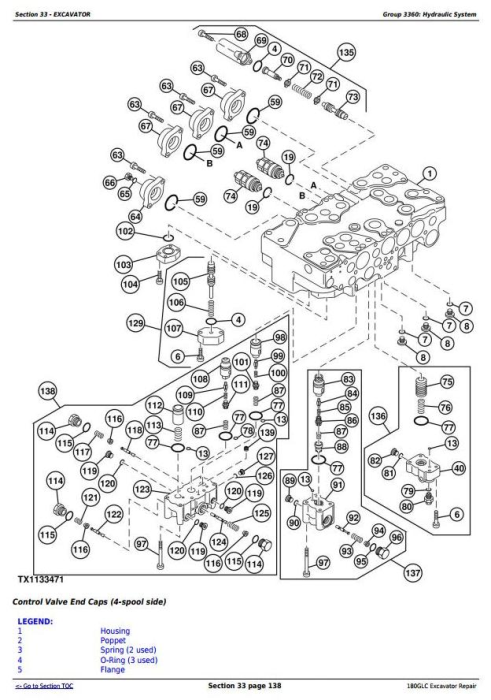 Fourth Additional product image for - John Deere 180GLC (PIN: 1FF180GX__E020001-) iT4/S3B Excavator Service Repair Manual (TM12339)
